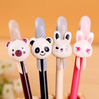 8Pcs Kawaii Lovely Black Gel Ink Roller Ball Pens Animal Cartoon Stationary new