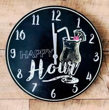 Happy Hour Colourful Pina Colada Cocktail Clock  CK0017-YE