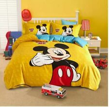 4pc. YELLOW DISNEY'S MICKEY MOUSE COTTON TWIN FULL QUEEN COMFORTER SET