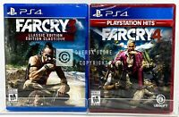 Far Cry 3 Classic Edition + Far Cry 4 PS Hits - PS4 - Brand New | Factory Sealed