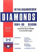 1984/85 irthlingborough diamants V Wotton croix bleue, United Counties, PARFAIT