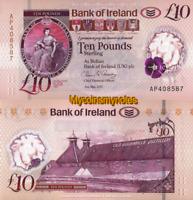 NORTHERN IRELAND, BANK OF IRELAND, £10, 2019, P-NEW, POLYMER, UNC