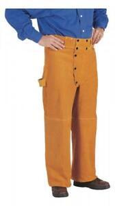 """Tillman 5350 40"""" W x 32"""" L Brown Cowhide Split Leather Welding Pants"""