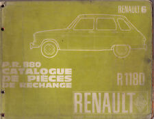 RTA revue technique automobile P.R.880 RENAULT R6 6 R1180 1180