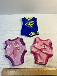 LOT of 3 Hasbro Baby Alive Doll ROMPERS Clothes Replacement Parts Accessories