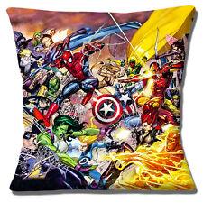 Captain Marvel Cushion Cover 16x16 inch 40cm Comic Book Heroes Film Superman