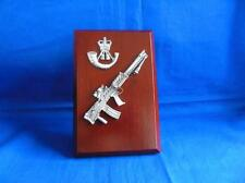 THE RIFLES CAP BADGE AND LIGHT SUPPORT WEAPON ( LSW ) PLAQUE