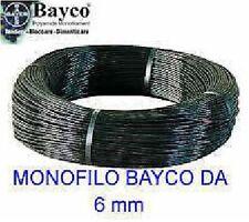 Monofilo Bayco da 6mm nero in matassa da 100 mt per tirantare antenne tralicci