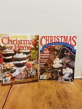2 Southern Living CHRISTMAS Needle Work Craft RECIPE Decorating Ideas Magazines