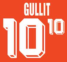 Holland Gullit Nameset 1992 Shirt Soccer Number Letter Heat Print Football H