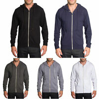 Victorious Men's Plain French Terry Zip Down Hoodie Sweater   TH891- FREE SHIP