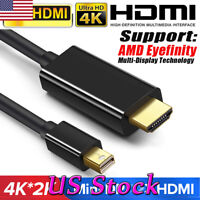 1.8M Mini Display Port DP to HDMI Cable For Macbook Pro Air iMAC 4K Gold Plated