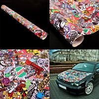 """Graffiti JDM Bomb Car Wrap Decoration 20""""x30"""" Decal Waterproof Vinyl Sticker"""