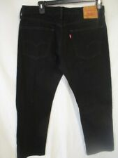 Levi's 505 100% Cotton 36 x 29 Black Straight Fit   Jeans