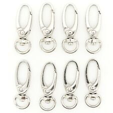 "100 PC METAL OVAL LOBSTER SWIVEL CLASP 1.5"" (37mm) SIZE - SILVER - FOR BAG/STRAP"