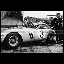 Photo A.012279 FERRARI 250 GTO ACCIDENT HENRI OREILLER AUTODROME MONTHLERY 1962