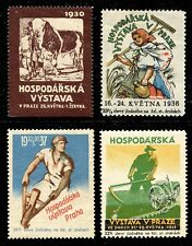 Czechoslovakia Poster Stamps - Agricultural Exhibitions - 4 Different 1930/1938