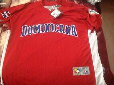 new mens majestic world baseball classic jersey 2009 Dominican Republic xl