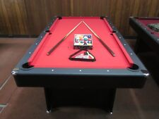 DELUXE 7 FOOT RED FELT POOL TABLE WITH ACCESSORIES  NEW 2018 MODEL [RED]