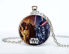 Star Wars Photo Cabochon Glass Tibet Silver Chain Pendant Necklace AAA3