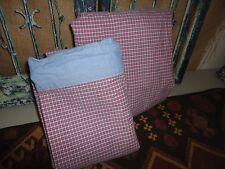 TOMMY HILFIGER RED BLUE PLAID CHAMBRAY (2PC) TWIN XL SHEET SET