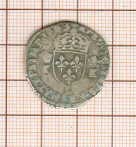 Demi teston aux K   Charles IX 1563 L Bayonne