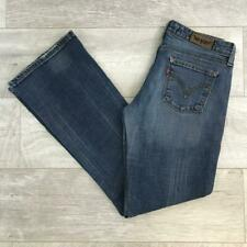 "Womens Blue LEVIS 572 30""W 32""L Vintage Bootcut Stretch Denim Jeans 572s #C4577"