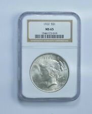 MS65 1922 Peace Silver Dollar - Graded NGC *186
