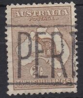 K759) Australia 1913 2/- Brown 1st wmk. Kangaroo BW 35A.