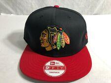 Chicago Blackhawks New Era 9Fifty Black Red Snapback Hat Cap NHL Hockey NEW