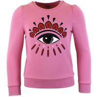 Kenzo Calia O Girls Pink Eye Print Sweatshirt Age 2 Years Bnwt Rrp £100