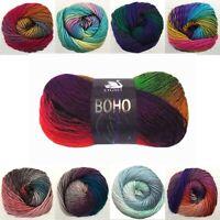 100g BALLS OF CYGNET BOHO SPIRIT Knitting Wool Crochet Yarn Solid DK Aran