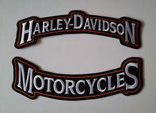 1 Set x Patch Aufnäher Harley Davidson Motorcycles Groß 29 x 9 cm