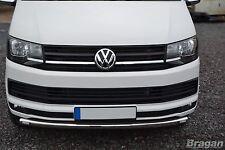 2004 - 2015 VW Transporter T5 Caravelle Front Bumper Spoiler Nudge Bar + LEDs
