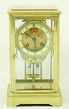 Very Elegant Fireplace Clock Glass Pendule With Brockot Inhibition Um 1860