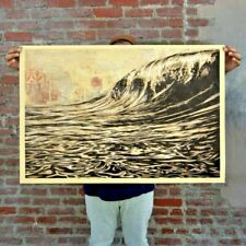 SIGNED! Shepard Fairey DARK WAVE Original Art Print Poster Obey Giant 24 x 36