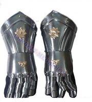 Gauntlet Gloves Armor Pair  Medieval Knight Crusader Spartan  Steel Armer