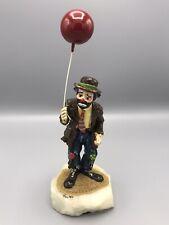1986 24K Gold Painted Hobo Sad Clown w/ Balloon Figurine Signed Artist~Ron Lee