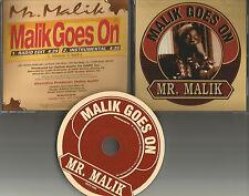 Illegal Member MR. MALIK goes on EDIT & INSTRUMENTAL PROMO DJ CD single 1995 USA