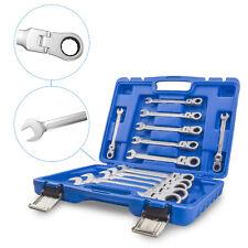 Gelenk Ratschenschlüssel Set Ring Maul Schlüssel Satz 8-19mm Werkzeug 12 tlg