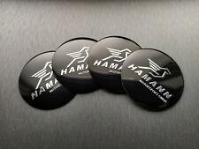 4x 56mm Hamann Sticker Stickers Decal Badge For Center Caps Hub Cap Wheel Rim