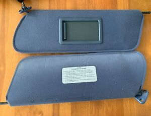 1995 Plymouth Grand Voyager sunvisors shade set w/ mounts OEM - blue in color