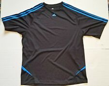 Vintage Adidas Shirt Blue Sports Jersey Athletic Clothing Mens Womens Unisex