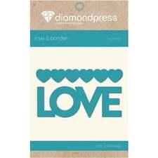 Love-diamante corte de prensa Die-palabra Dies DP1188