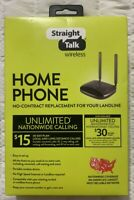 Straight Talk STZEZ723ECPWP Wireless Home Phone Service No-Contract Replacement