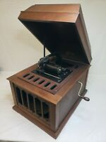 VINTAGE 1900'S EDISON AMBEROLA PHONOGRAPH CYLINDER RECORD PLAYER AS IS