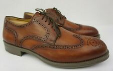 Magnanni Emiliano Mid Brown Leather Men's Wingtip Shoes Size 9.5 M
