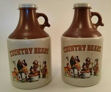 *Disney Country Bear Jamboree Souvenir Moonshine Jug Mug Plastic Set of 2