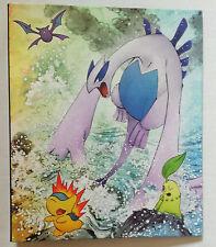 Rare Japanese Pokemon Legends Lugia Ho-oh 9 Pocket Card Porfolio File Binder