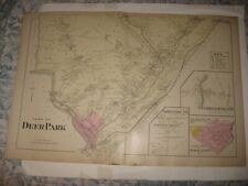 ANTIQUE 1903 DEERPARK PORT JERVIS CUDDEBACKVILLE ORANGE COUNTY NEW YORK MAP RARE